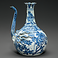 A blue and white 'Pomegranate' ewer, Wanli period (1573-1619) 1