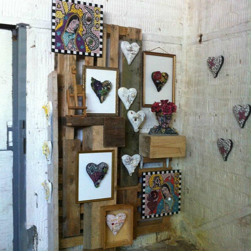 installation malou mosaique atlelier Stf B pour atelier ouvert
