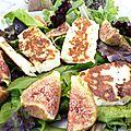 Halloumi frit en salade, de la concurrence pour la féta