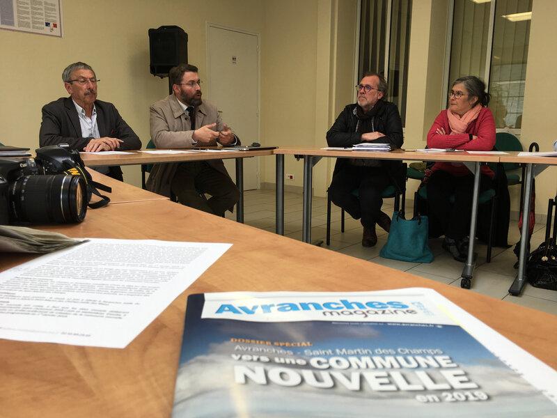 projet-commune nouvelle-Avranches-Saint Martin des Champs-David Nicolas-Jacques Lucas-maire