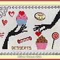 Échange ATC (Les desserts) Chez Miou Marie de Clessé pour Édith 1