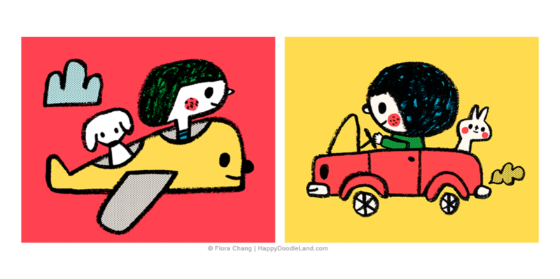Airplane+And+Fun+Ride+©+Flora+Chang+-+Happy+Doodle+Land+copy