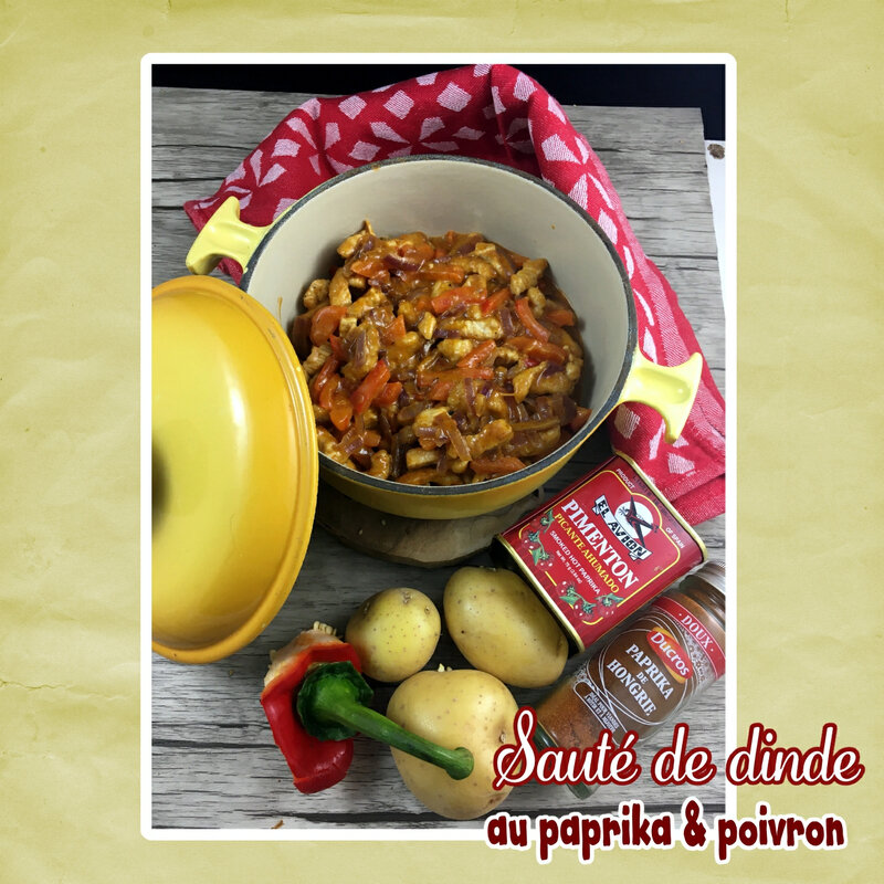 Sauté de dinde au paprika & poivron (scrap)