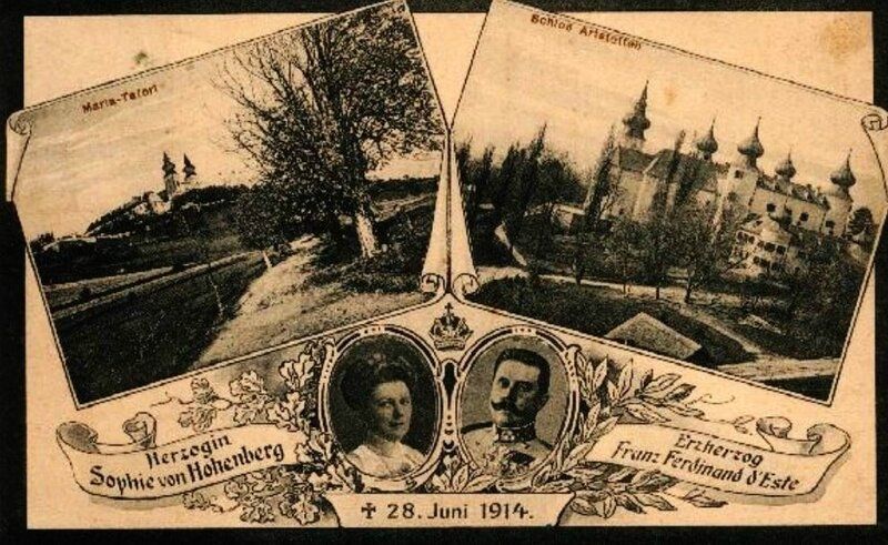 Carte postale 28 juin 1914