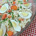 Salade de farfalles aux légumes