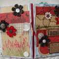 Scrap photos et livre altere