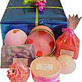 Coffret de bain fruits rouges