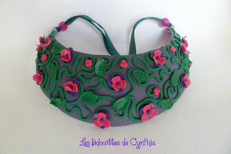 Cynthia - plastron couleurs