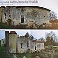MARPEN FORMATION MAÇONNERIE,PRIEURE SAINT JEAN DE l'HABIT,chapelle,restauration expérimental,tusson 16140