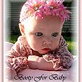 Bandeau trois fleurs bébé