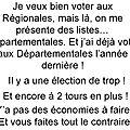 Elections régionales ou départementales