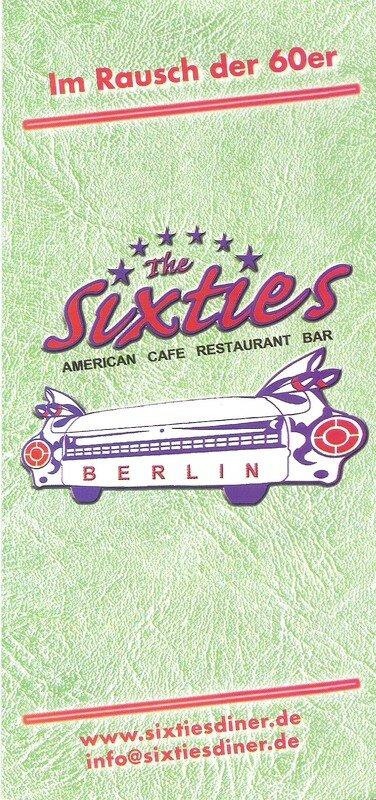 le Sixties, restau américain très sympa dans le Mitte (Oranienburg Strasse)