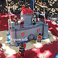 Gâteau Chateau de chevalier playmobils, Knight cake 1