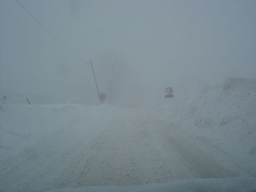 2008 12 18 Madelonnet Haut dans la neige et le brouillard
