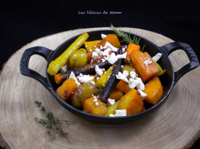 Légumes d'automne confits au four à la feta et au sirop d'érable 5