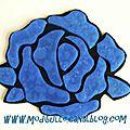 sous-verres rose bleue