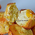 Muffin aux pêches et cardamone, sans beurre