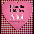 A toi - claudia pineiro - editions actes sud