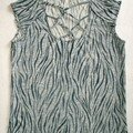 T-shirt zèbre lacé (modèle Fait Main)