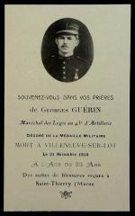 43e RAC 1ère batterie Maréchal des logis Georges Guérin