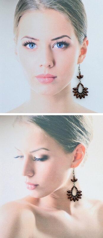 Boucles d'oreilles Style Tibétain Indira Perle Et Strass Marron Argent du Tibet