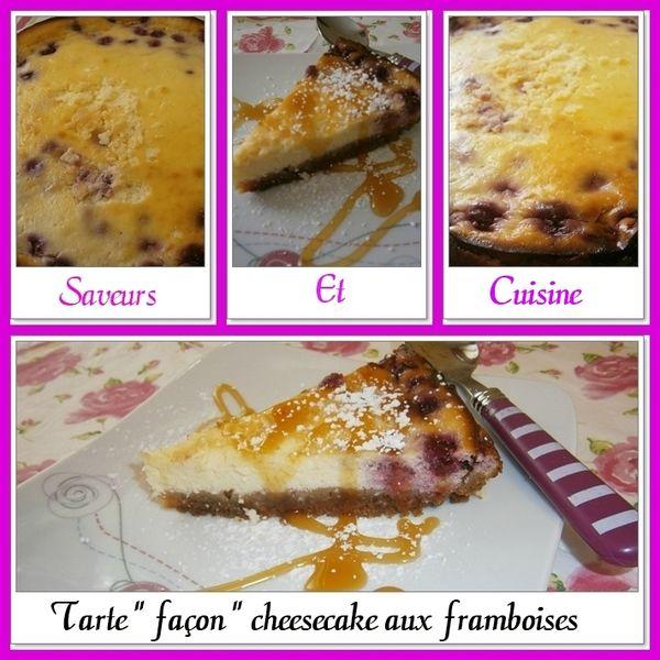 Tarte façon cheesecake aux framboises