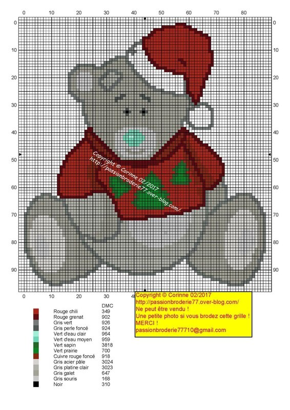 Tatty teddy de noel