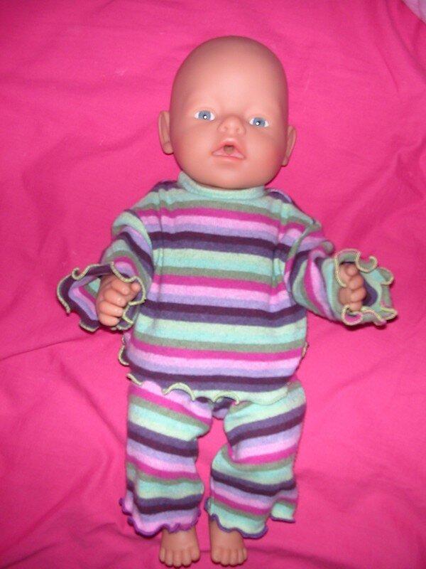 pyjama de poupée