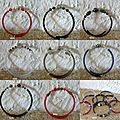 Bracelets PVC et divers perles dont cristal swarovski