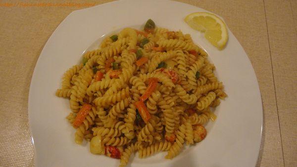 Fusilli aux écrevisses, bisque de homard et petits légumes (1)