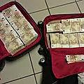 Magnétique valise de richesse