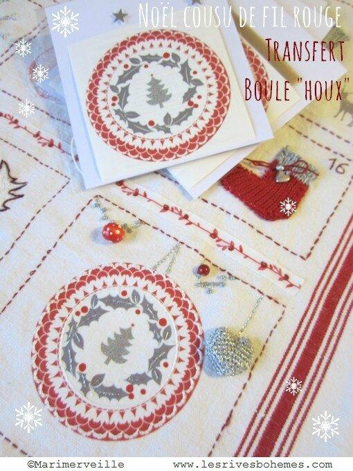 Noël en rouge et blanc vintage créations marimerveille