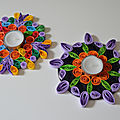 Bougeoirs quilling versions 2 et 3