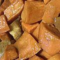 Patates douces confites aux pommes