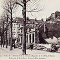 Lille, Boulevard de la Liberté, Magasin de la Belle jardinière (destruction des 10-12 octobre 1914) carte postale coll