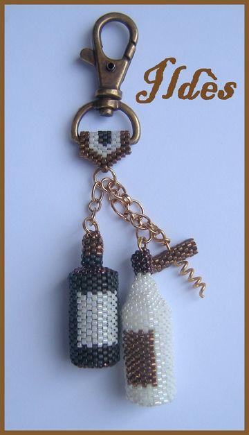 Porte-clefs avec bouteilles