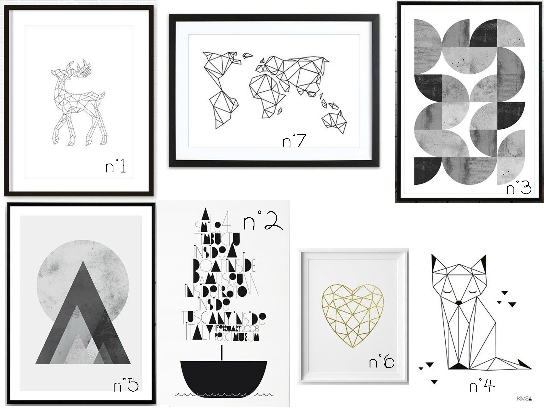 Des affiches géométriques...
