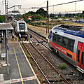 Rencontre d'AGC en gare de Blanquefort