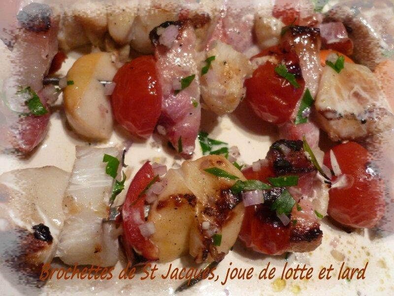 melon et brochette st javques (1)