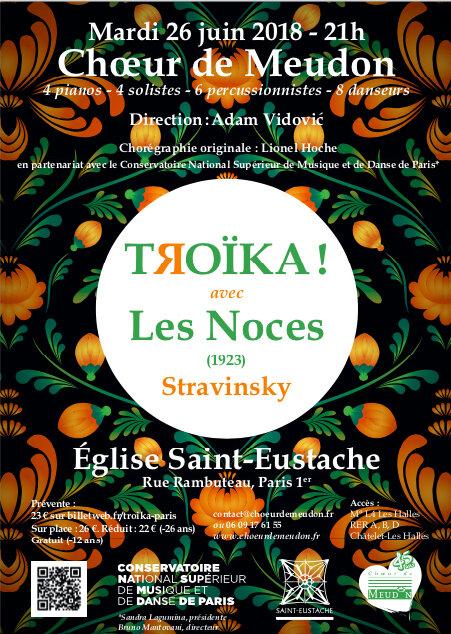 Teaser concert Troïka Choeur de Meudon les 23 & 26 juin 2018