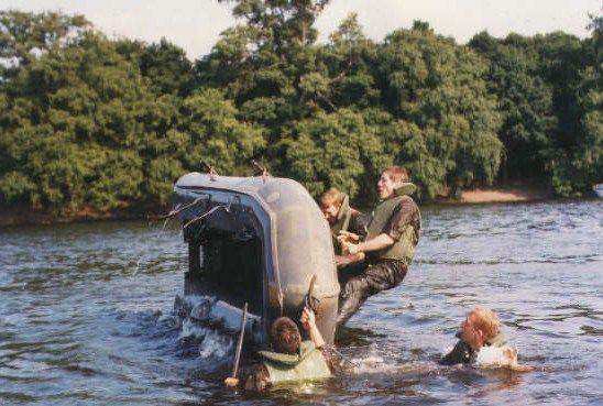 CEC Berlin-Printemps-1975 - Exercice de Dessalage au Lac de Tegel