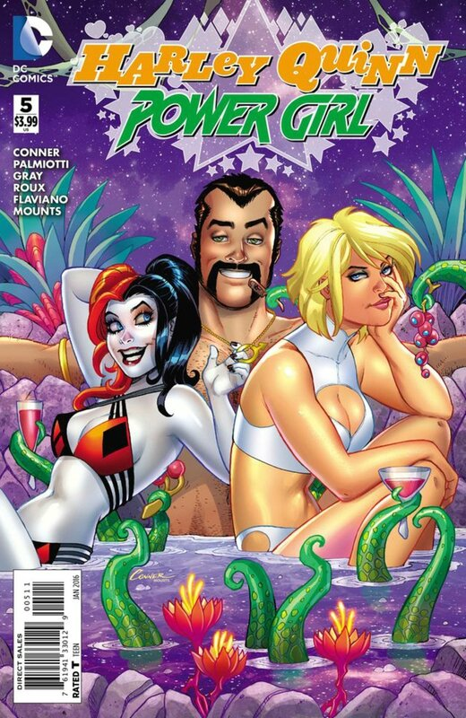 new 52 harley quinn power girl 05