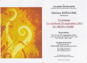 cartons d'invitation expo Paris