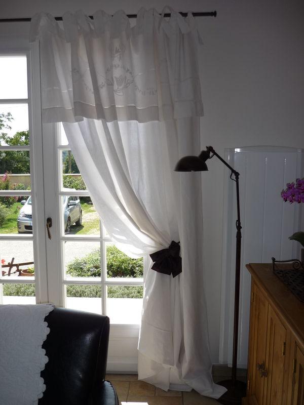 L\'art de transformer un drap en rideau - L\'Atelier de création Lin ...