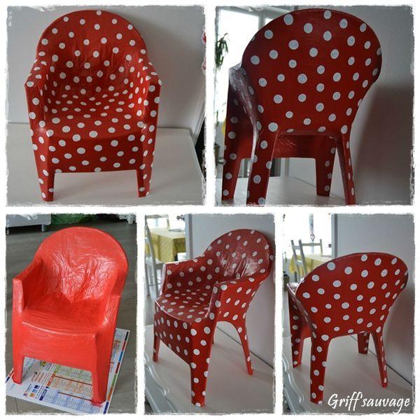 chaise à pois1