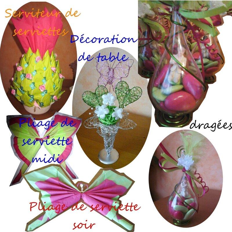 décoration table et accessoires