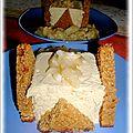 Charlotte au pain d'epices et poelee de poires