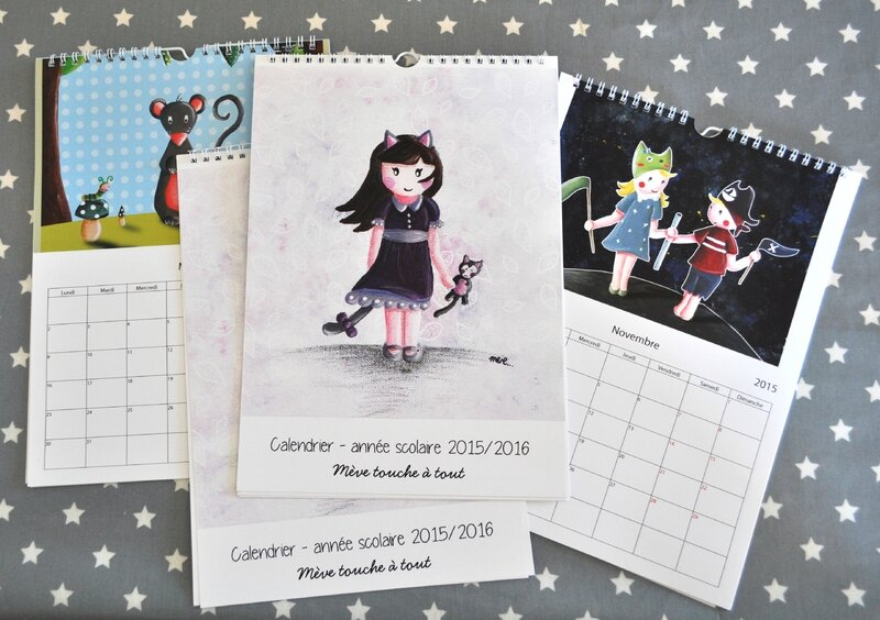 calendriers-anne scolaire 2015 2016-illustration meve