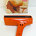 Vintage ... seche-cheveux moulinex (1977) * orange