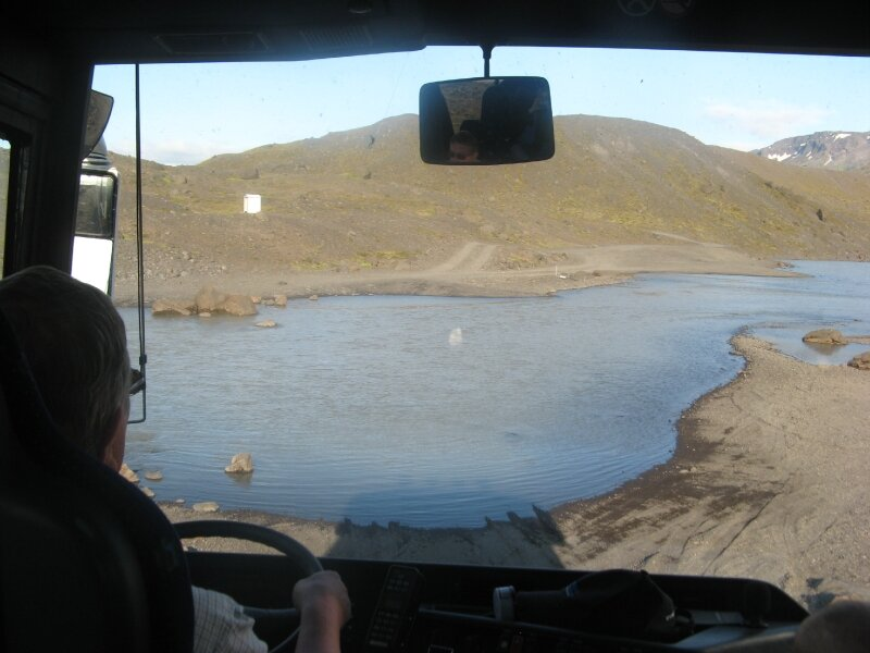in the bus which will cross a river